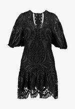 SERPENTINE MINI DRESS - Robe de soirée - black