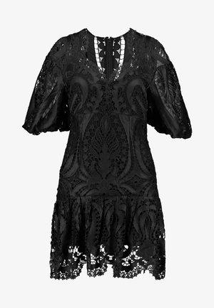 SERPENTINE MINI DRESS - Koktejlové šaty/ šaty na párty - black