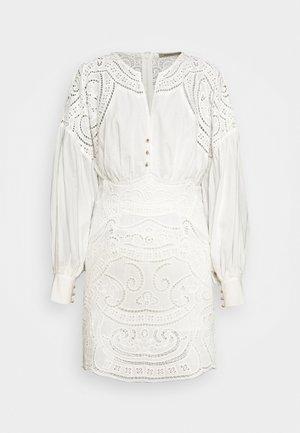 RIPPLE MINI DRESS - Day dress - off white