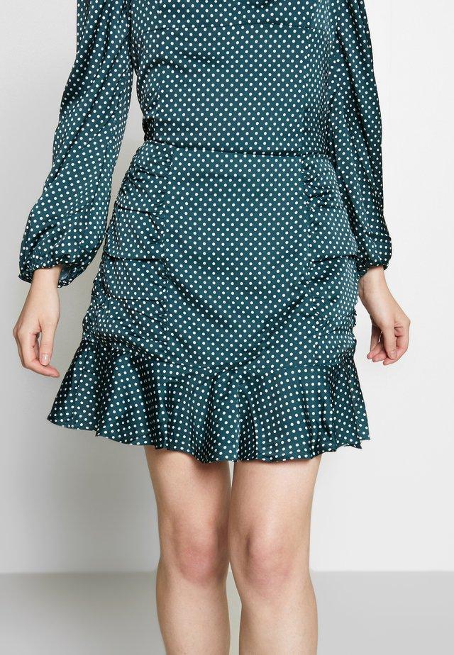 DORJE SKIRT - Mini skirt - dark green