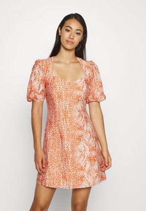 BIANCA MINI DRESS - Day dress - fiery