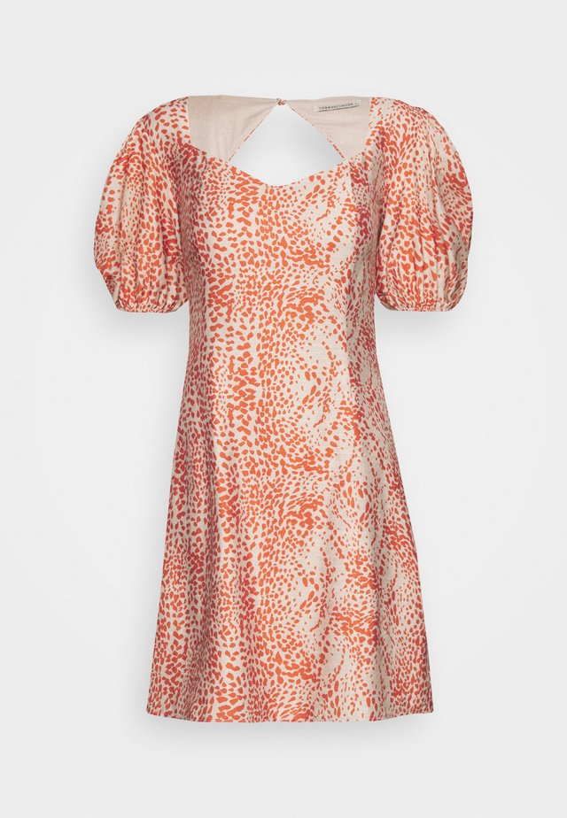 BIANCA MINI DRESS - Korte jurk - fiery