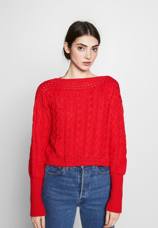 MILIE - Stickad tröja - red