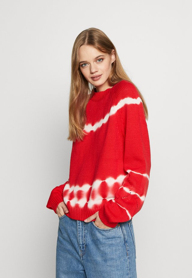 TIE DYE - Jumper - red