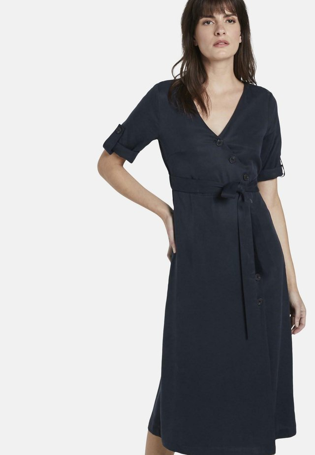 Shirt dress - sky captain blue