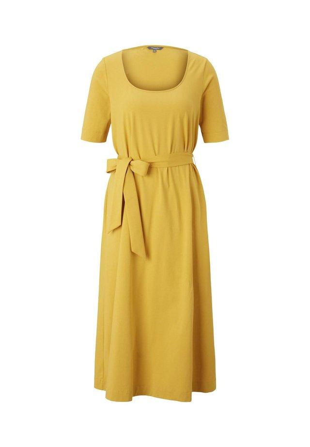 Jersey dress - golden corn