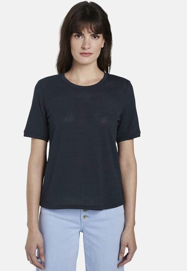 T-SHIRT T-SHIRT MIT STRUKTUR - Basic T-shirt - sky captain blue