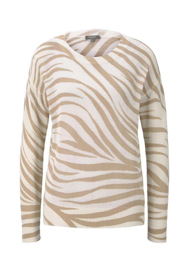 IM ZEBR - Jumper - ecru zebra design