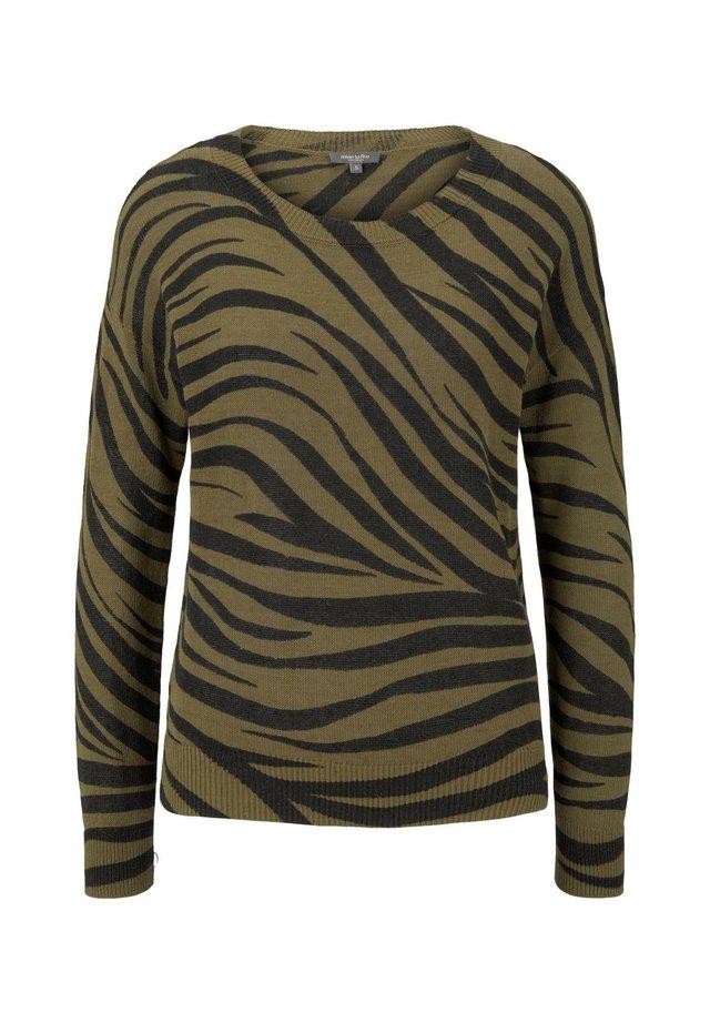 IM ZEBR - Jersey de punto - olive zebra design
