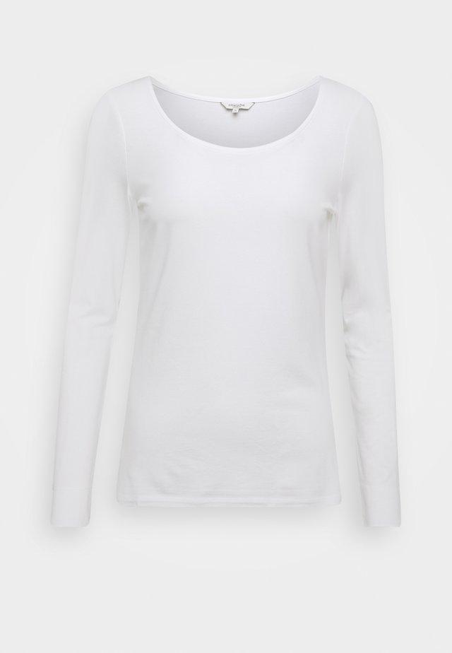ROUND NECK - Top sdlouhým rukávem - white