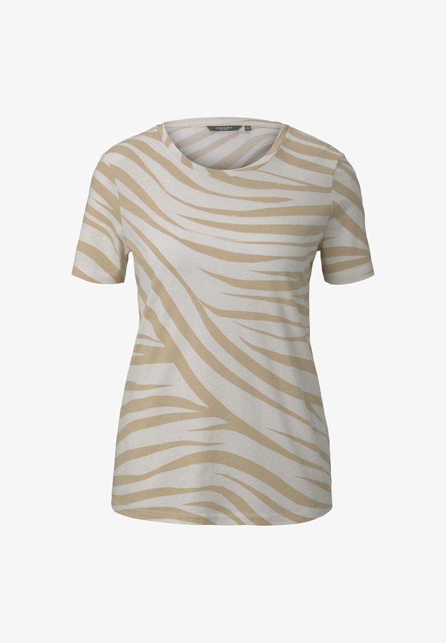 Print T-shirt - ecru zebra design