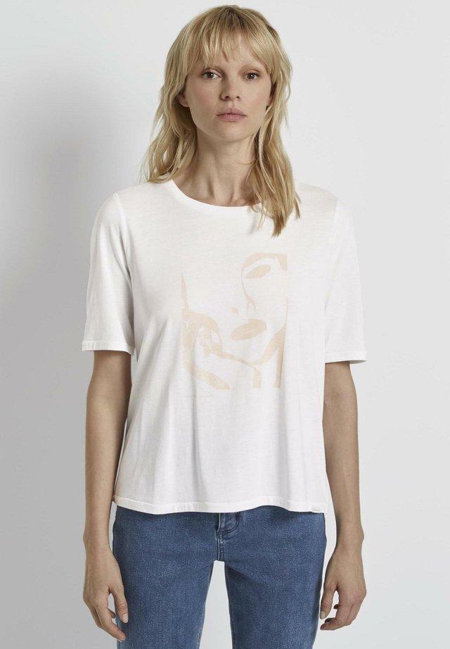 MIT ARTWORK - Print T-shirt - white