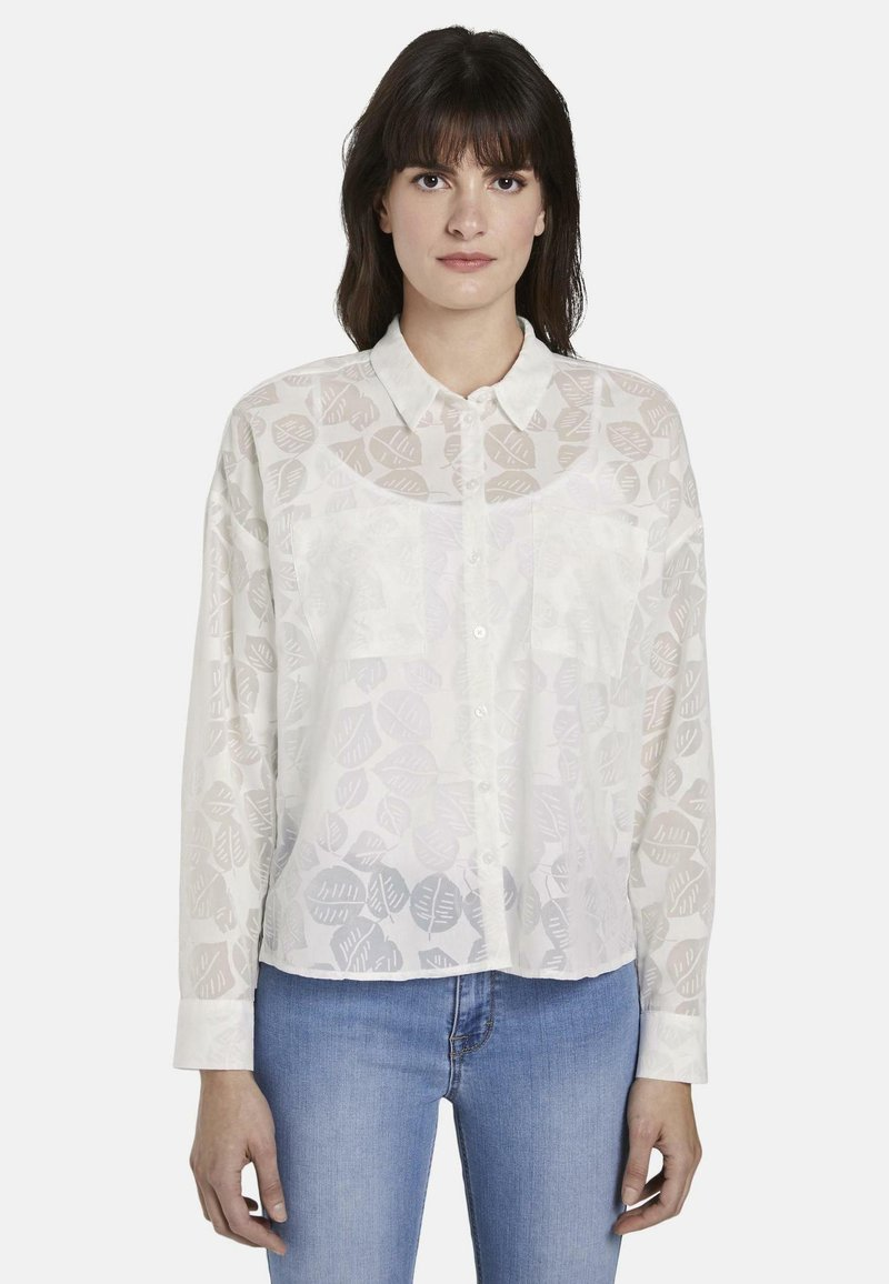 mine to five TOM TAILOR - Button-down blouse - white