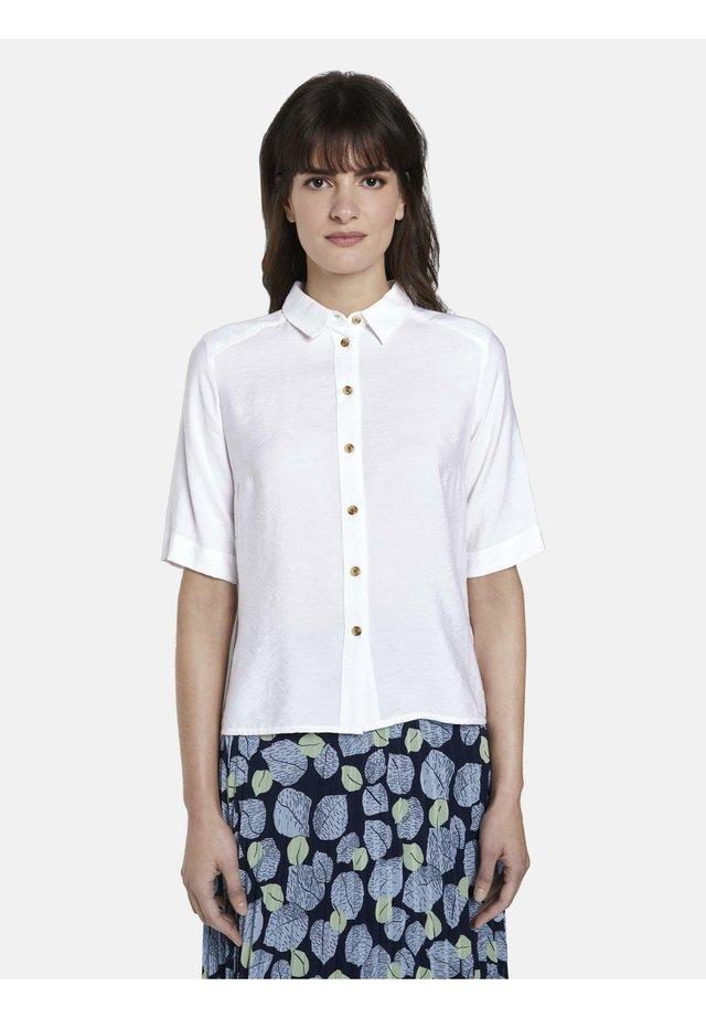 BLUSEN & SHIRTS SCHLICHTES BLUSENSHIRT - Button-down blouse - white