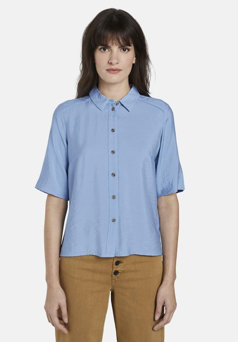 mine to five TOM TAILOR - BLUSEN & SHIRTS SCHLICHTES BLUSENSHIRT - Button-down blouse - soft charming blue