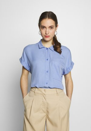BLOUSE LOOSE - Button-down blouse - dreamy blue