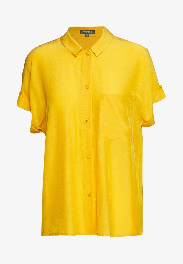BLOUSE LOOSE FIT - Button-down blouse - golden corn