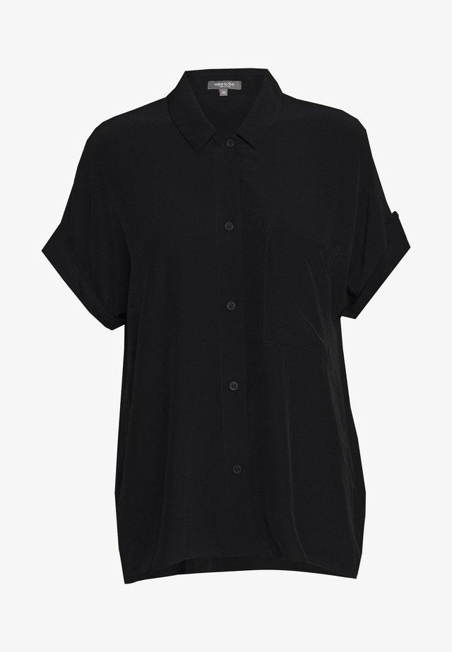 BLOUSE LOOSE FIT - Button-down blouse - deep black