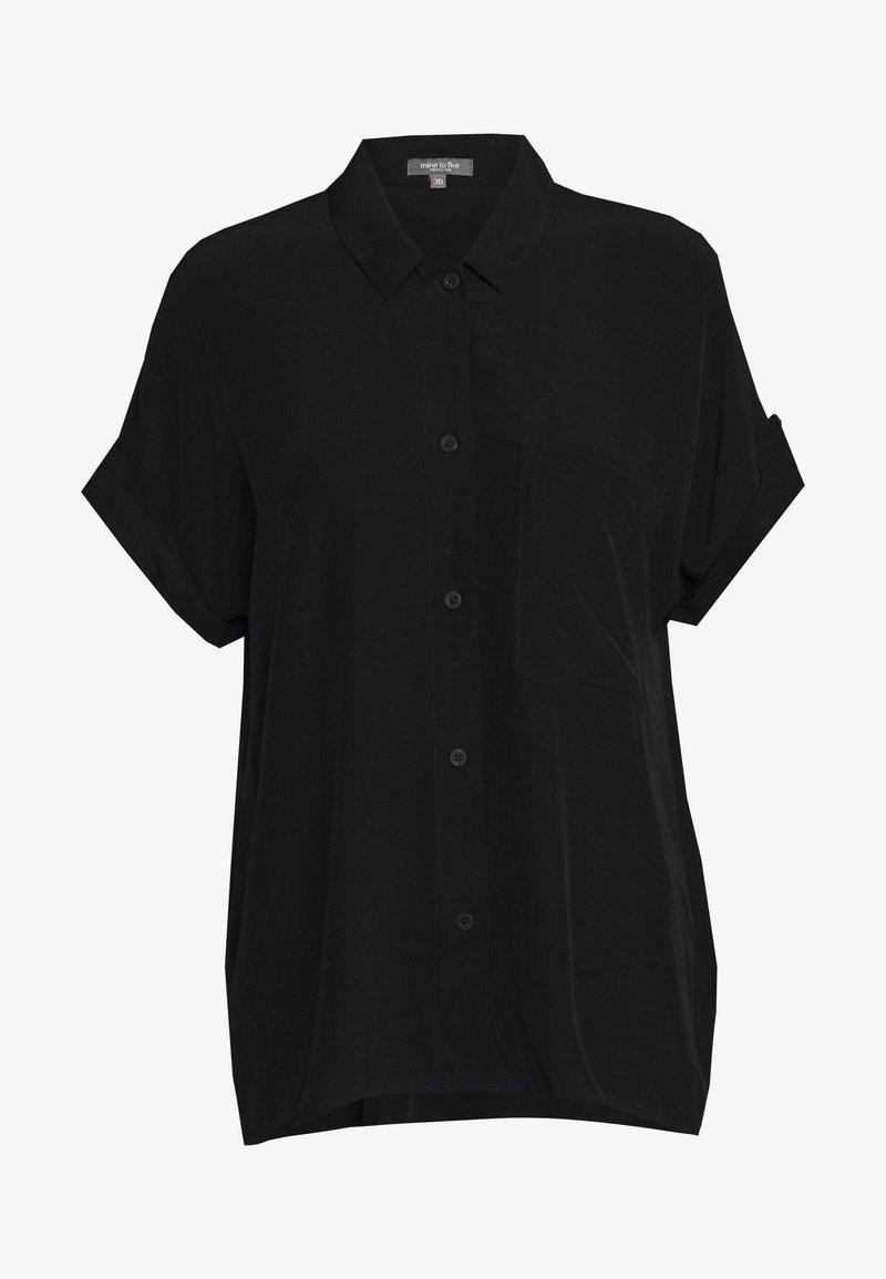 mine to five TOM TAILOR - BLOUSE LOOSE FIT - Overhemdblouse - deep black