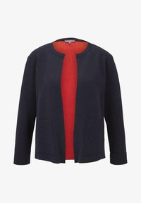 mine to five TOM TAILOR - PULLOVER & STRICKJACKEN STRICK-BLAZER - Cardigan - sky captain blue