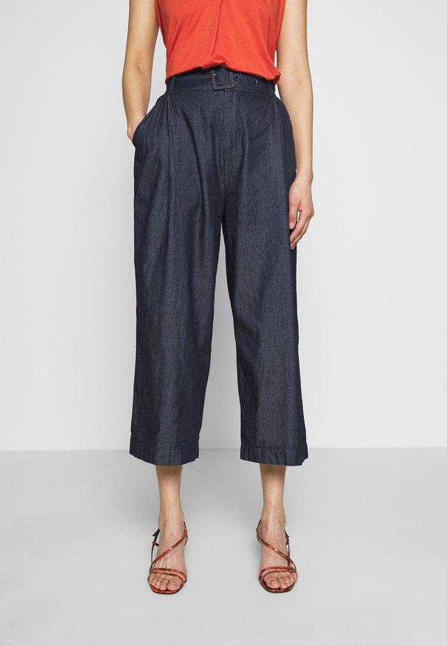 CAMILA CULOTTES - Spodnie materiałowe - chambray blue