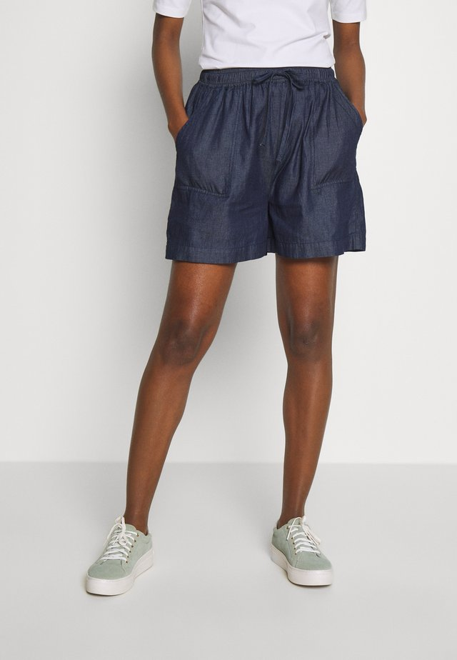 CAMILA - Szorty jeansowe - blue