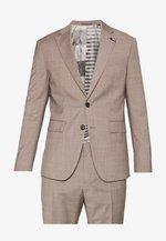 SLIM FIT SUIT - Suit - beige