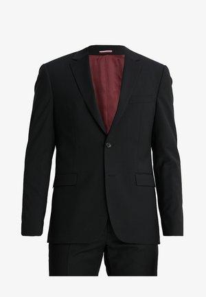 SLIM FIT SUIT - Kostym - black