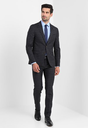 CHECK SLIM FIT SUIT - Completo - grey