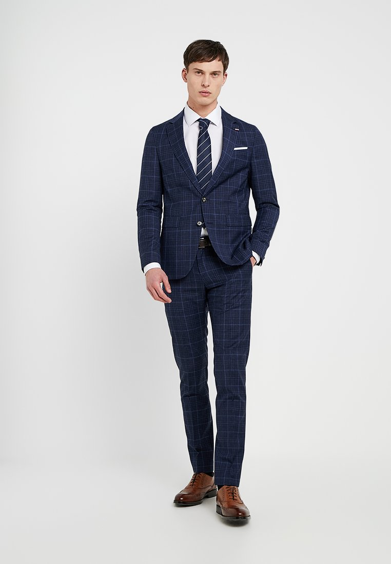 Tommy Hilfiger Tailored - CHECK SLIM FIT SUIT - Suit - blue