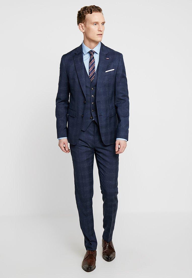 Tommy Hilfiger Tailored - CHECK SLIM FIT 3 PIECE SUIT - Kostuum - blue