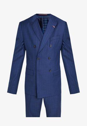 BLEND STRIPE SLIM FIT SUIT - Oblek - blue