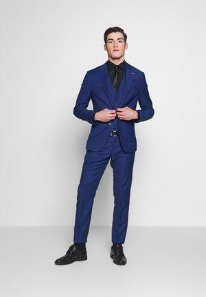 MICRO DESIGN 3 PCS  SLIM FLEX SUIT SET - Dress - blue