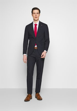 SLIM FIT PEAK LAPEL STRIPE SUIT - Oblek - blue