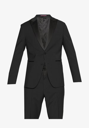 SLIM FIT TUXEDO SUIT - Kostym - black