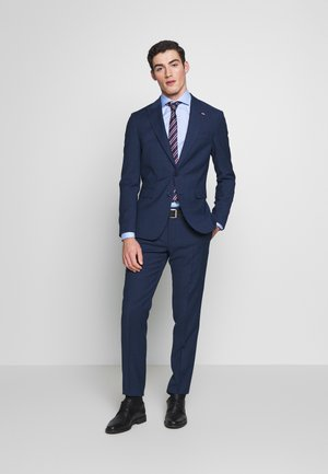 SLIM FIT PEAK LAPEL SUIT - Completo - blue