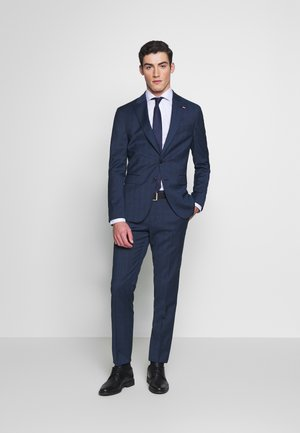 PEAK LAPEL CHECK SUIT SLIM FIT - Kostuum - blue