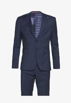 PEAK LAPEL CHECK SUIT SLIM FIT - Oblek - blue
