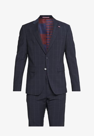 SLIM FIT CHECK SUIT - Anzug - blue