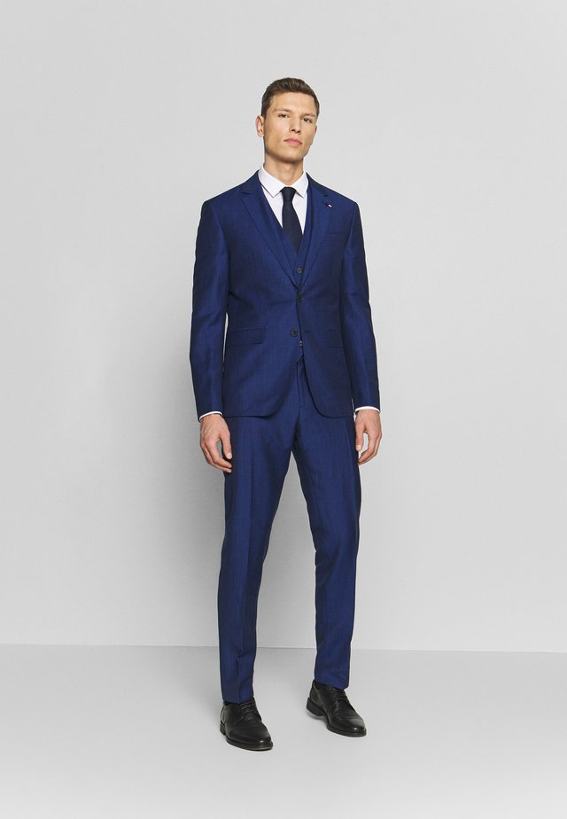 PIECE WOOL BLEND SLIM SUIT - Completo - blue