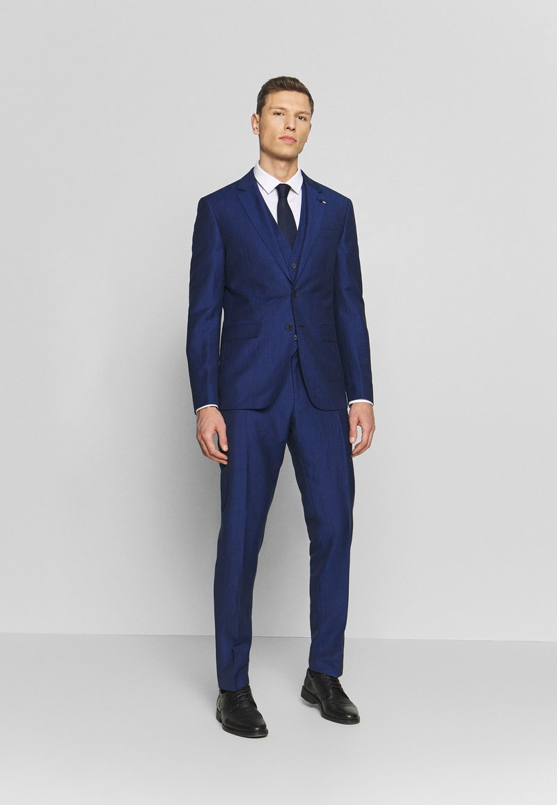 Tommy Hilfiger Tailored - PIECE WOOL BLEND SLIM SUIT - Costume - blue
