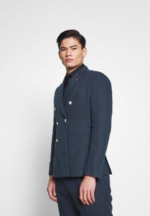 WASHED SLIM FIT - Blazer jacket - blue