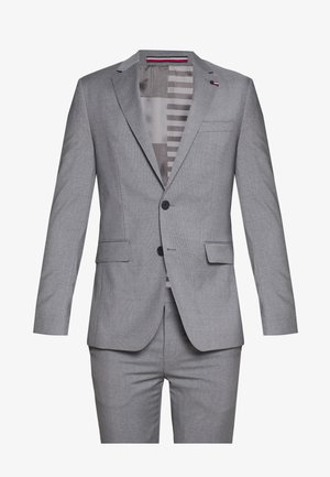 MICRO STRIPE SLIM FIT SUIT SET - Completo - grey