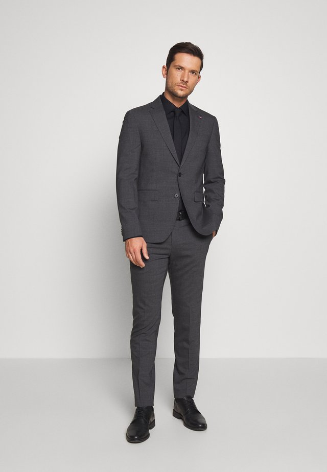 SLIM FIT SUIT - Kostym - grey