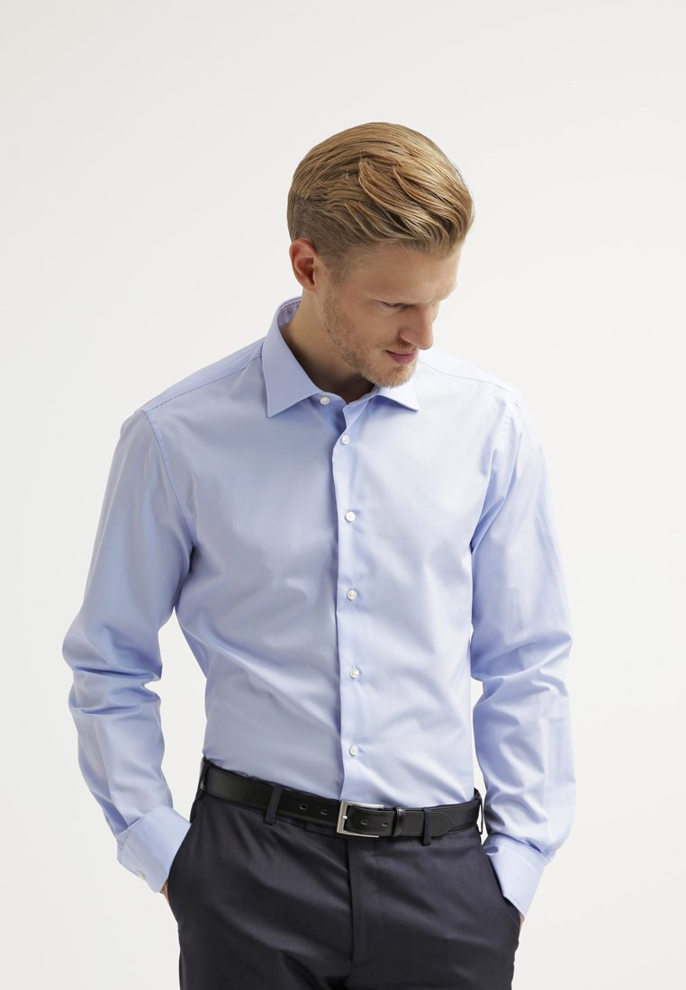 Tommy Hilfiger Tailored - FITTED - Camicia elegante - light blue