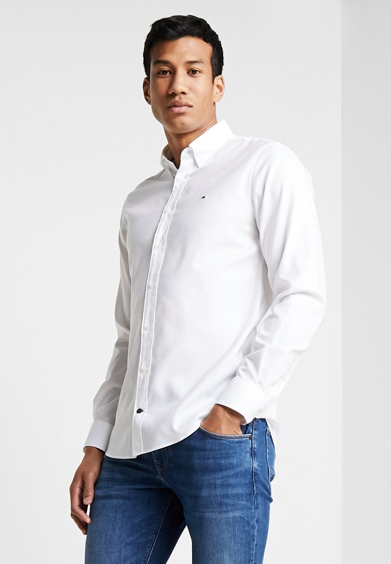 Tommy Hilfiger Tailored - DOBBY BUTTON DOWN SLIM FIT - Shirt - white