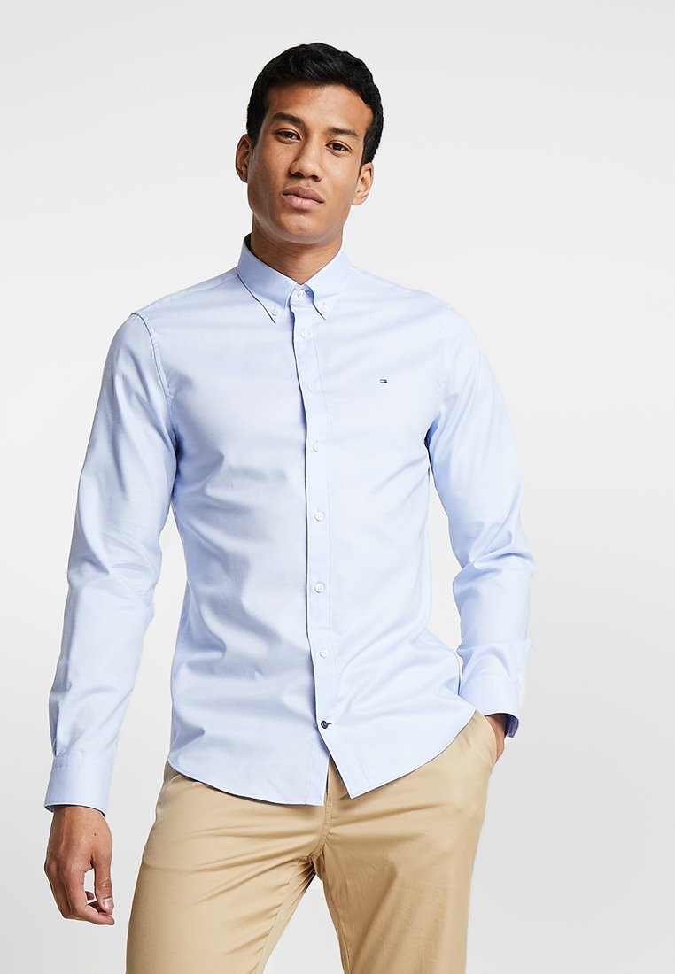 Tommy Hilfiger Tailored - DOBBY BUTTON DOWN SLIM FIT - Camisa - blue