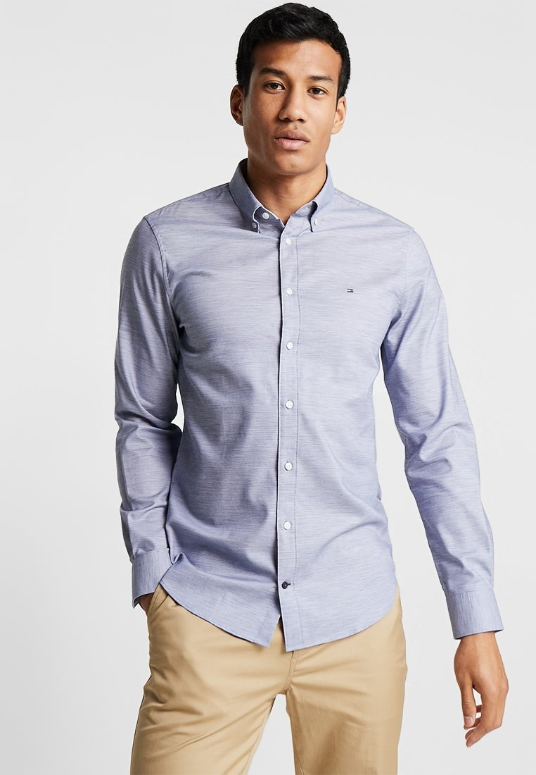 Tommy Hilfiger Tailored - DOBBY BUTTON DOWN SLIM FIT - Shirt - blue