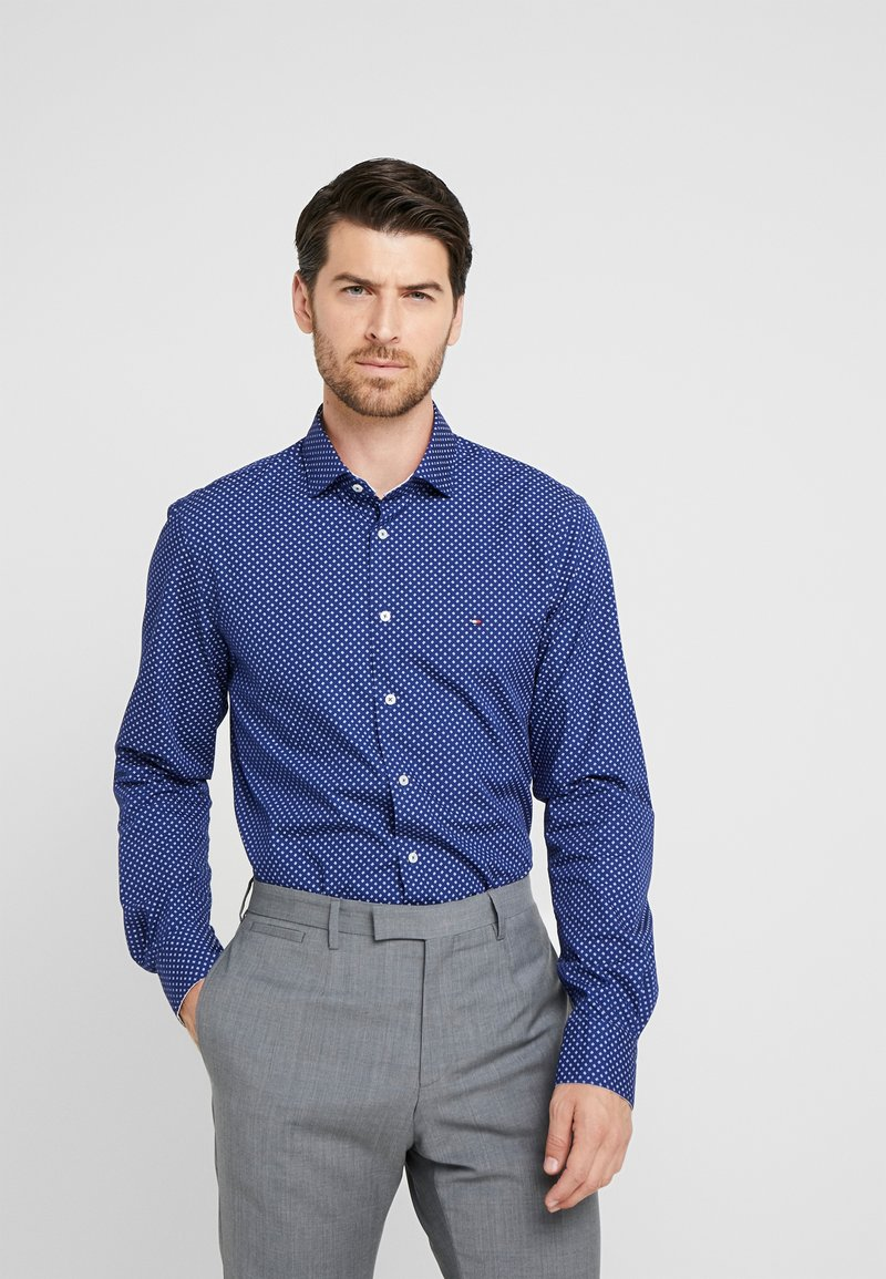 Tommy Hilfiger Tailored - WASHED PRINT CLASSIC SLIM SHIRT - Formal shirt - blue