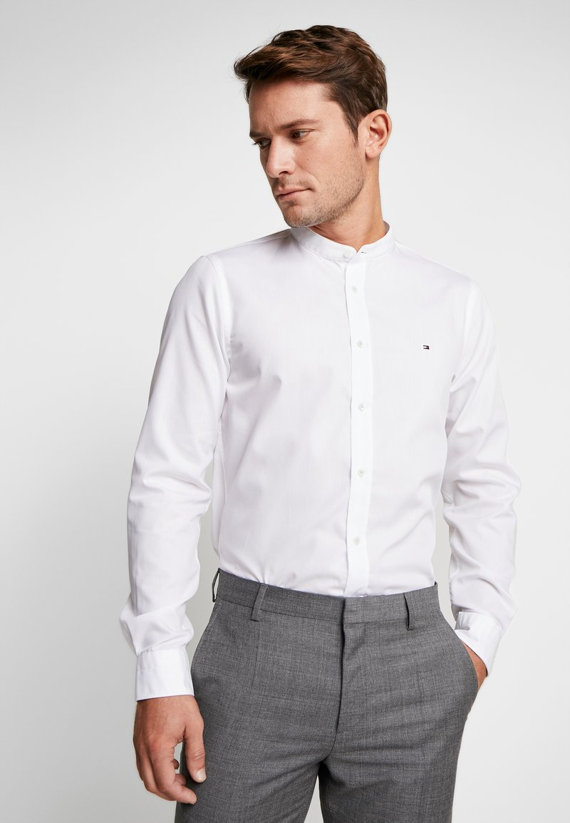 Tommy Hilfiger Tailored - POPLIN BAND COLLAR SLIM  FIT - Camicia - white